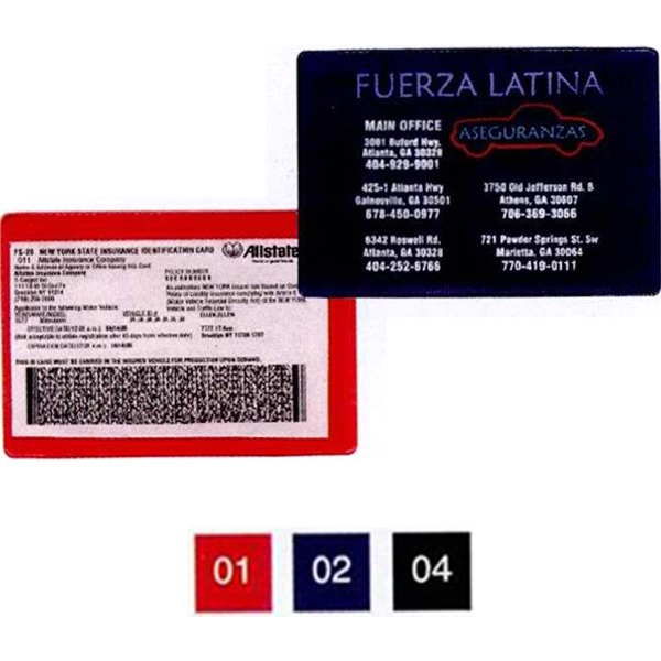 Extra Large Insurance Card Holder Photo