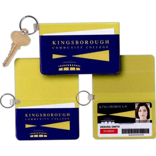 Standard Vinyl Identity Card Case With Key Ring Photo