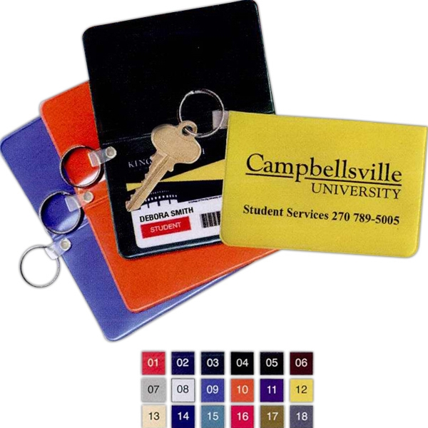 Standard Vinyl Foldover Card Case With Key Ring Photo