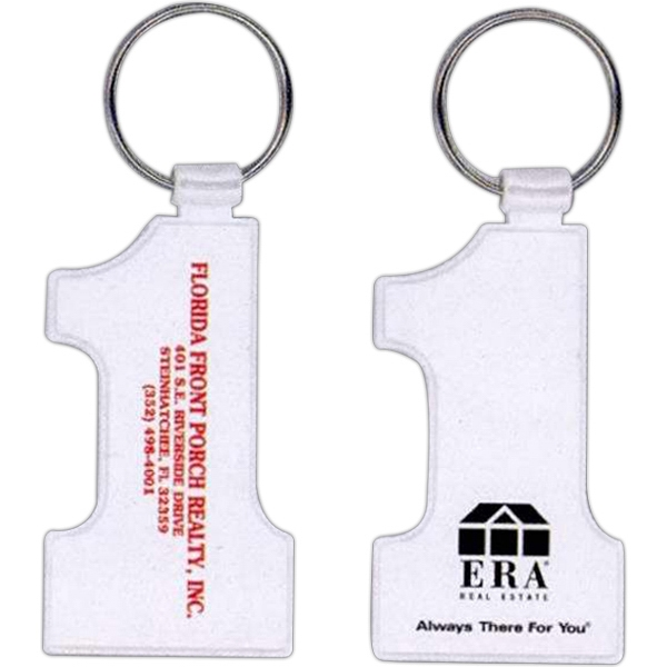 "Number 1 Key Ring Size 1 1/2"" X 2 7/8"" Photo"