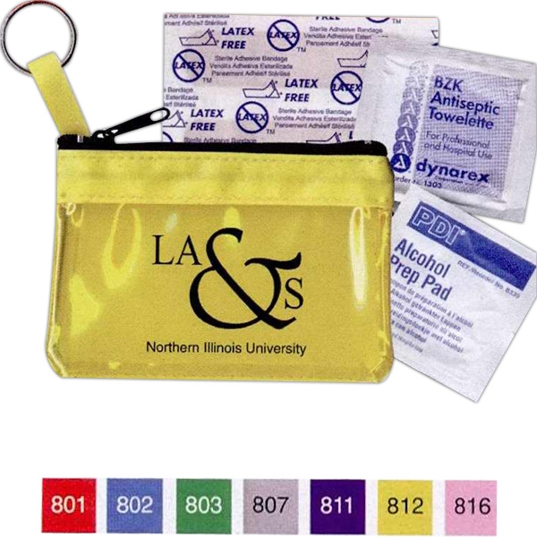 Key Ring Zippered First Aid Pouch Photo