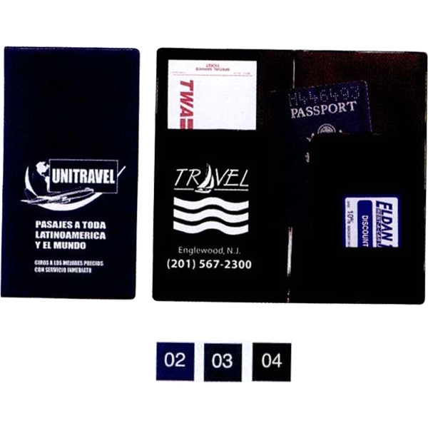 Passport Case, Inside Of The Case In Black Photo