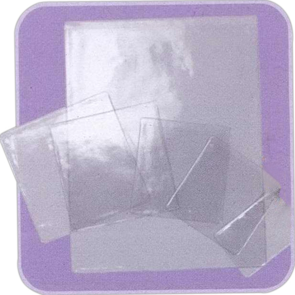 Double Polished Clear 10 Gauge Vinyl Sleeve/insurance Card Holder, Blank Photo