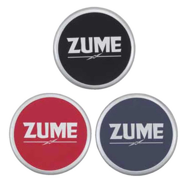 Zume - Coaster Adds Zest To Your Promotional Item With A Sleek Silver Border Photo