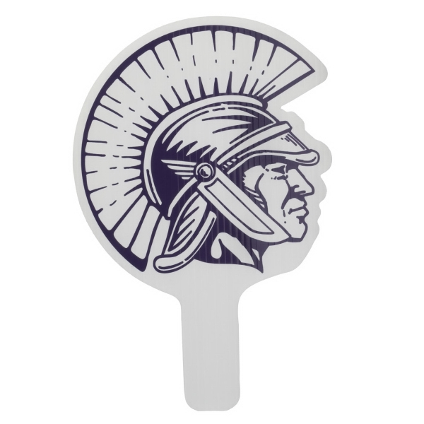"Trojan - Weather Resistant Hand Fan, Made Of Corrugated Plastic, Approximately 8"" X 12"" Photo"