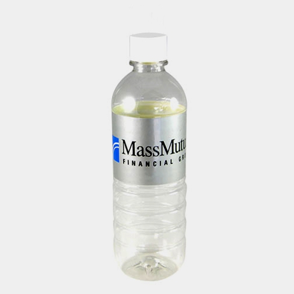 Logo L'eau - Bottled Water With Laminated Label With White Sports Cap, 16.9 Oz Photo