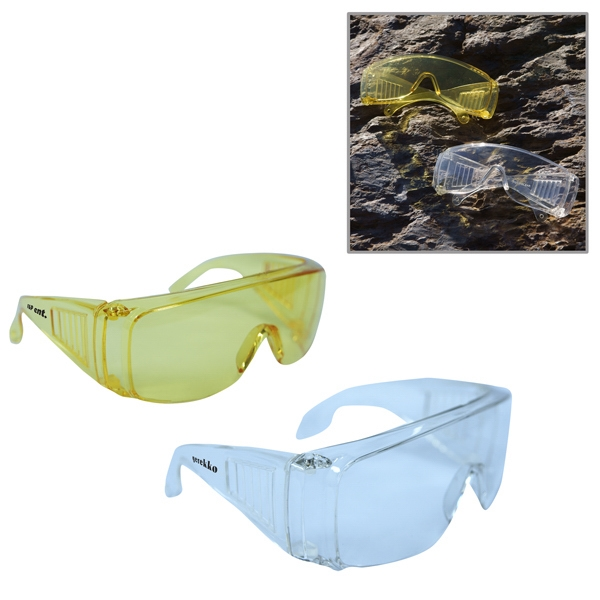 Safety Glasses With Clear Polycarbonate Lens Photo