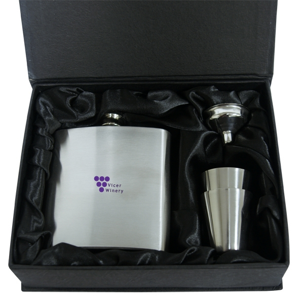Stainless Steel Hip Flask Set Photo