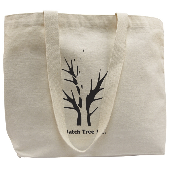 Bag Designs (tm) - Eco-friendly 100% Organic Cotton Tote Bag With Cotton Webbed Handles Photo