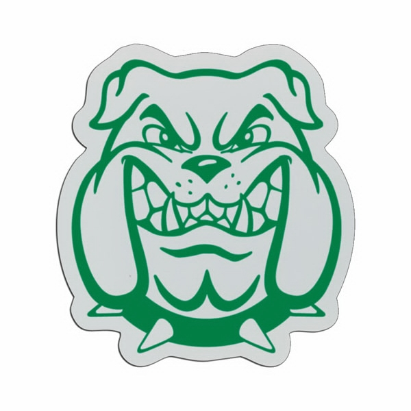 Bulldog Head - Lightweight Plastic Sports Badge With Safety Pin Or Magnet Backing Photo