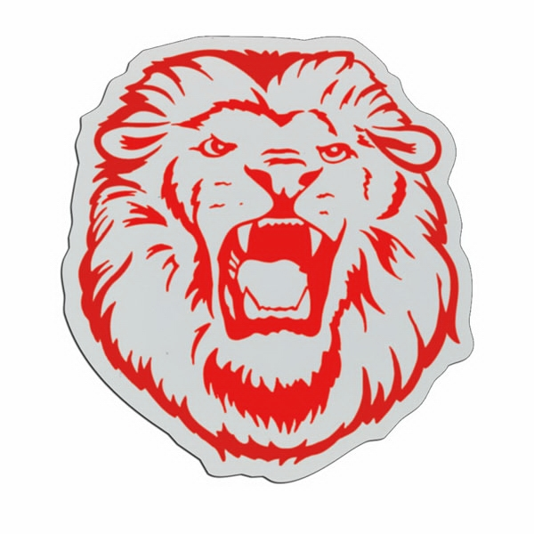 Lion - Lightweight Plastic Sports Badge With Safety Pin Or Magnet Backing Photo