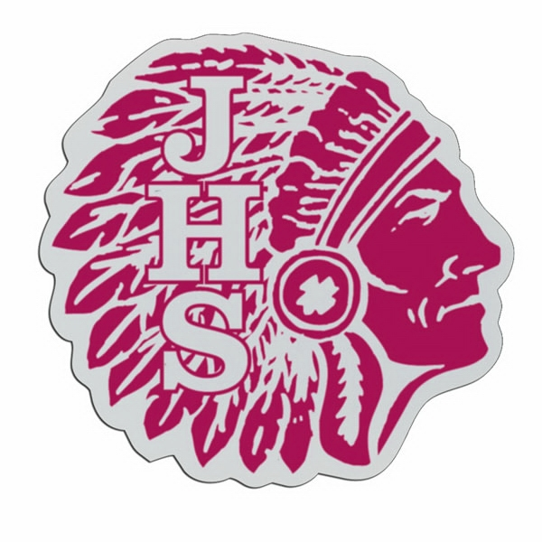 Indian Head - Lightweight Plastic Sports Badge With Safety Pin Or Magnet Backing Photo