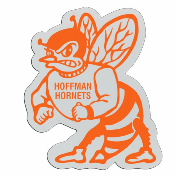 Hornet - Lightweight Plastic Sports Badge With Safety Pin Or Magnet Backing Photo