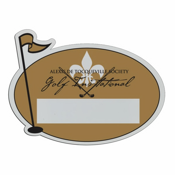 Golf Pin - Lightweight Plastic Sports Badge With Safety Pin Or Magnet Backing Photo