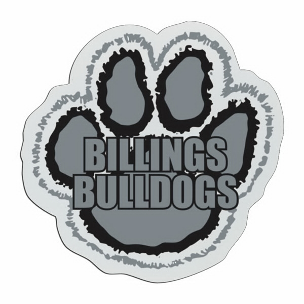 Paw - Lightweight Plastic Sports Badge With Safety Pin Or Magnet Backing Photo