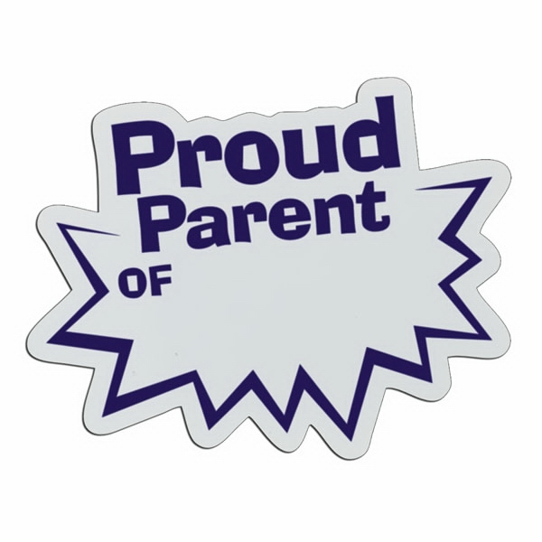 Proud Parent - Lightweight Plastic Sports Badge With Safety Pin Or Magnet Backing Photo