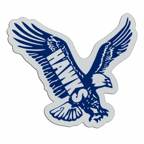 Eagle - Lightweight Plastic Sports Badge With Safety Pin Or Magnet Backing Photo