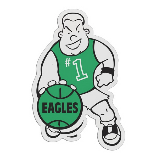 Basketball Player - Lightweight Plastic Sports Badge With Safety Pin Or Magnet Backing Photo