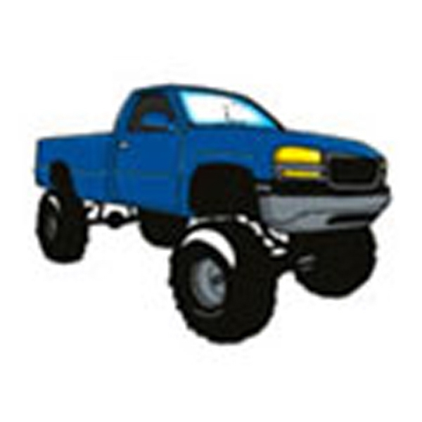 Blue 4 X 4 Truck, Stock Tattoo Designs Photo