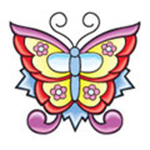 Bright Butterfly, Stock Tattoo Designs Photo