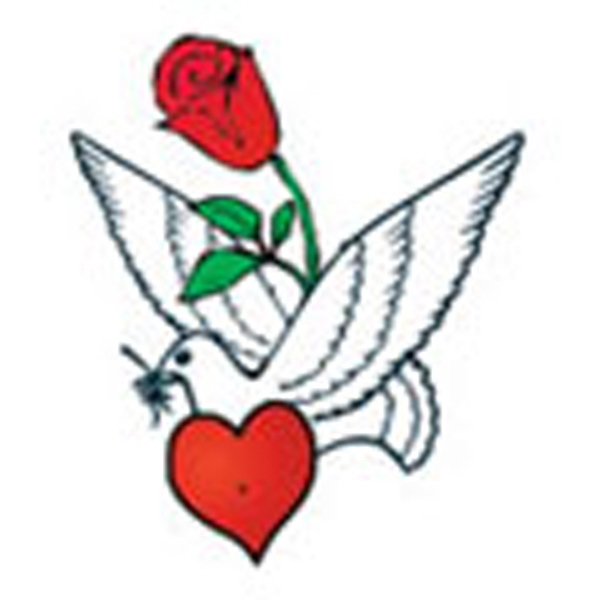 Dove With Rose, Stock Tattoo Designs Photo