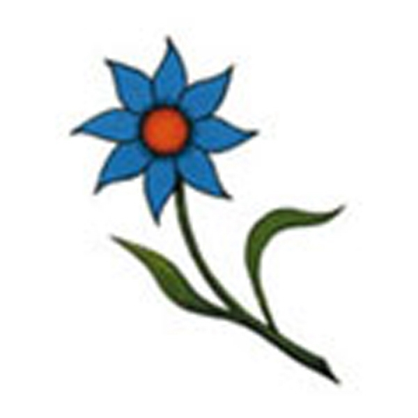 Blue Flower, Stock Tattoo Designs Photo
