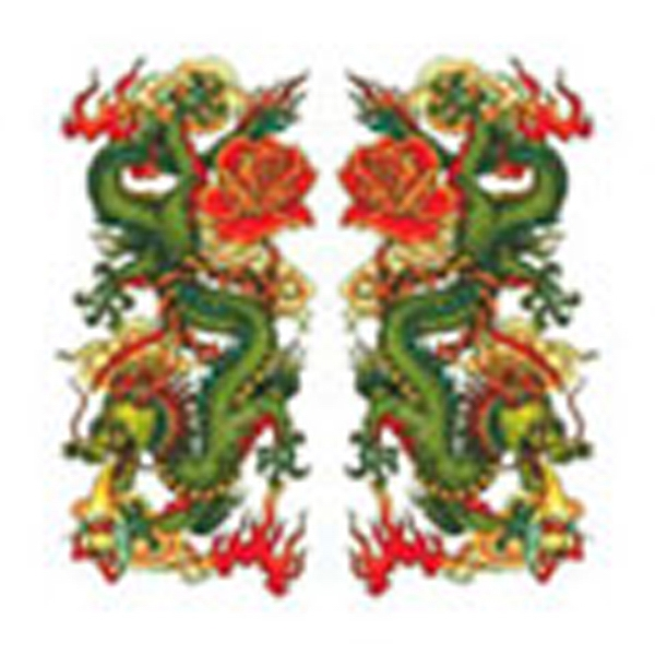 Chinese Dragons, Stock Tattoo Designs Photo
