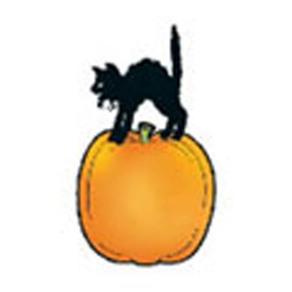 Cat On Pumpkin, Stock Tattoo Designs Photo