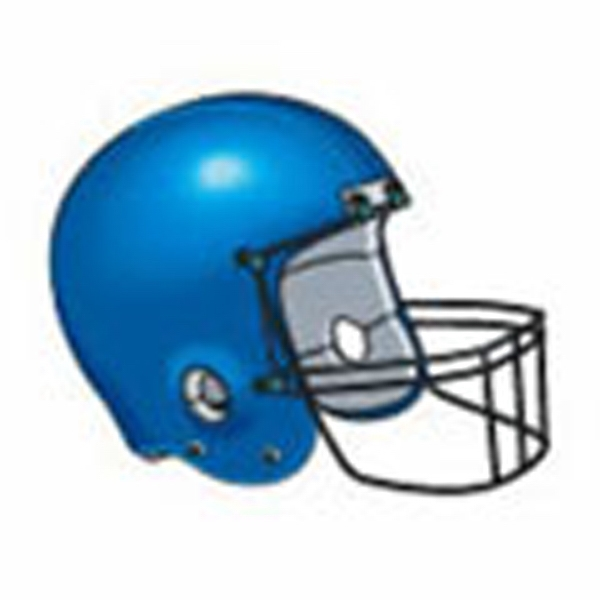 Blue Football Helmet Stock Tattoo Designs Photo