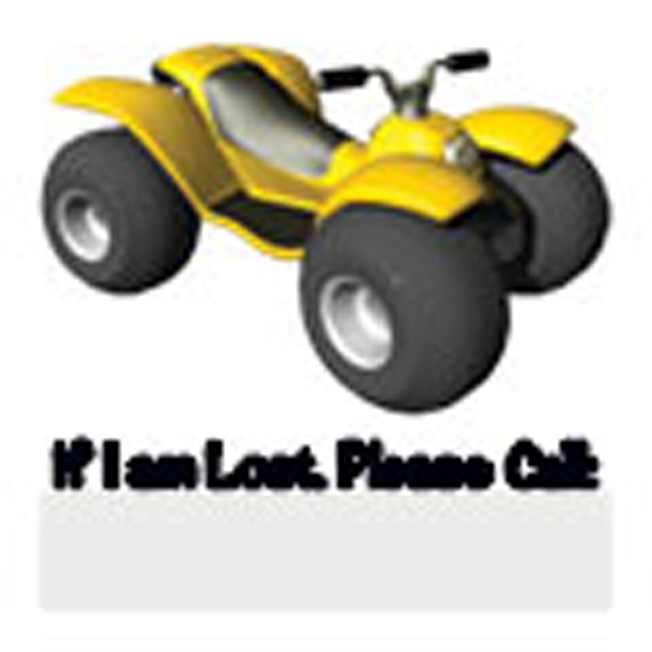 Atv/if I Am Lost Please Call Stock Temporary Tattoo Photo