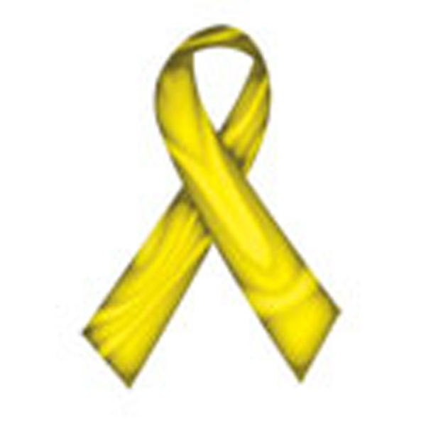 Swirl Yellow Ribbon, Stock Tattoo Designs Photo