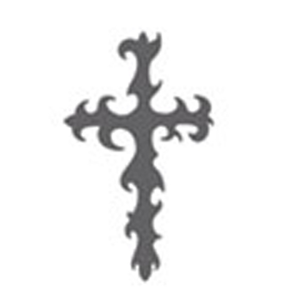 Celtic Tribal Cross Stock Temporary Tattoo Photo