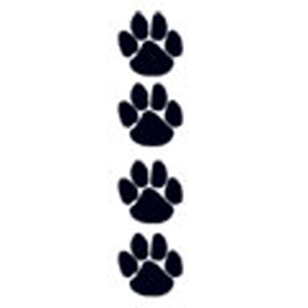 Black Paws, Stock Tattoo Designs Photo