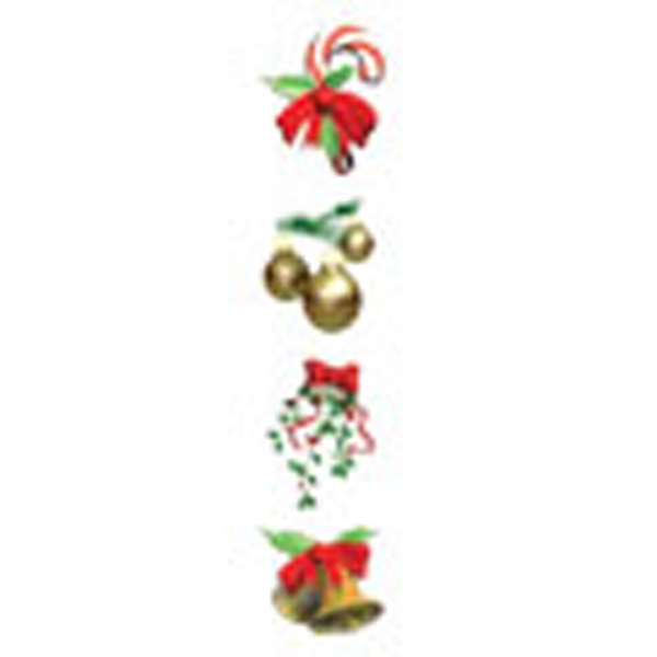 Christmas Ornaments Assortment Stock Temporary Tattoo Sheet Photo