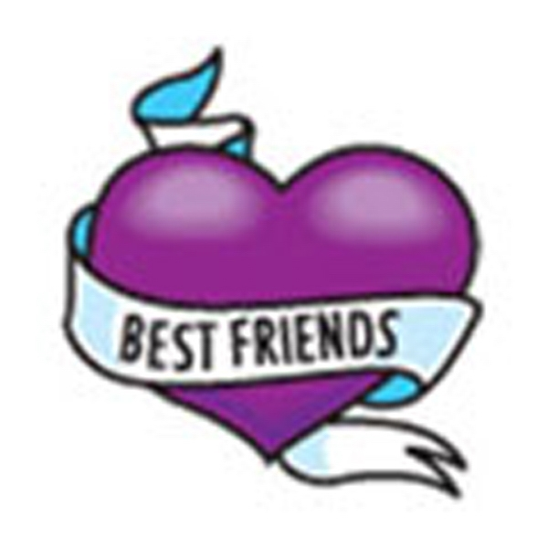 Best Friends Heart, Stock Tattoo Designs Photo