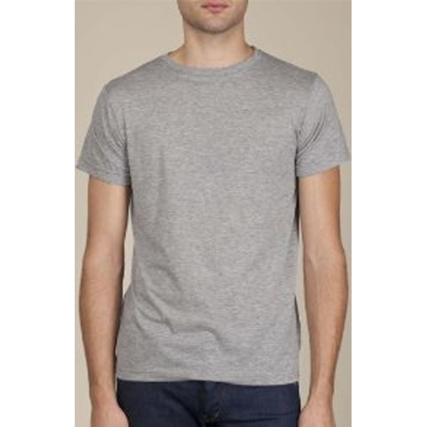 Heather 2 X L - Men's Basic Crew Made Of Cotton Jersey Photo