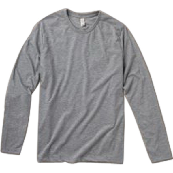Colors S- X L - Men's Long Sleeve Basic Crew Made Of Cotton Jersey Photo