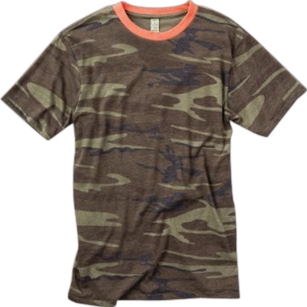 S- X L - Men's Printed Short Sleeve Crew Photo