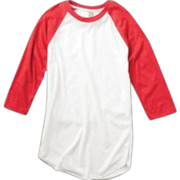 S- X L - Men's Color Block Baseball Tee Photo