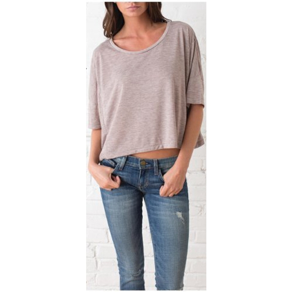Women's Oversized Boxy Tee, 50% Rayon/50% Polyester Photo