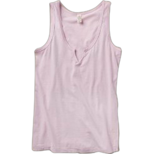 Moroccan - Women's Tank With V Slit Neckline Photo