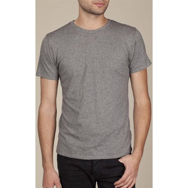 S- X L - Men's Heather Short Sleeve Perfect Crew T-shirt Made Of 100% Pima Cotton Photo