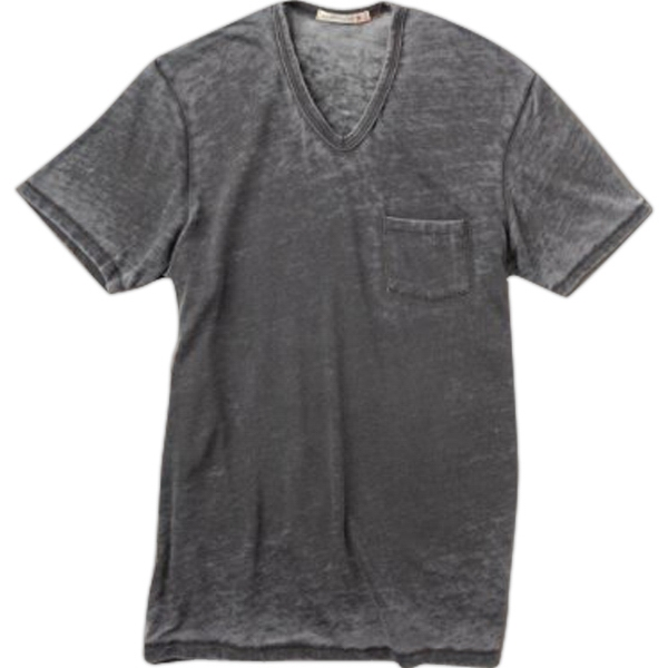 Leo - S- X L - Men's V-neck Shirt With Chest Pocket Photo