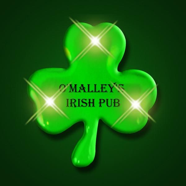 Green Shamrock LED Light Pins