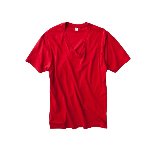 Color S- X L - Men's Cotton Jersey Basic V-neck T-shirt Photo