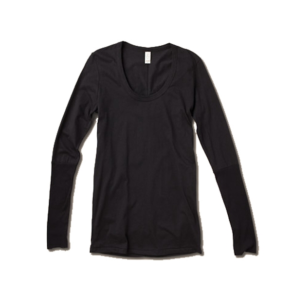 Women's Flattering, Rib-sleeve, Scoop-neck Tee Photo