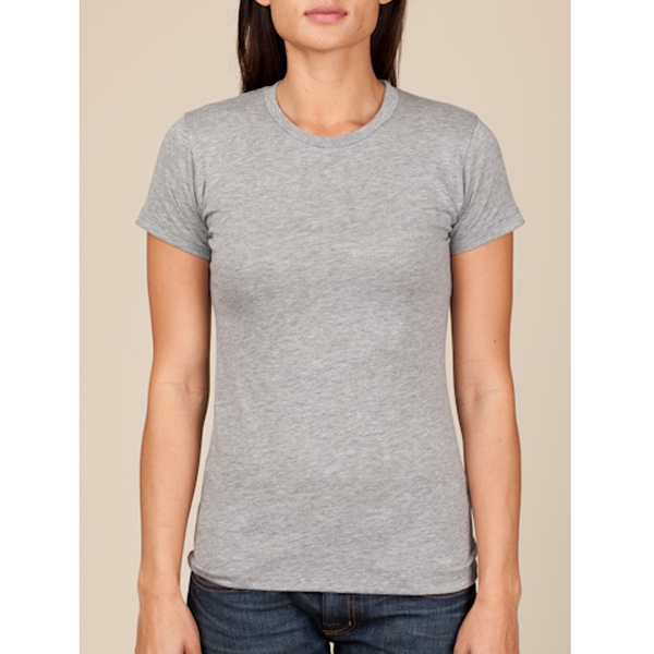 Heather Gray - Women's Basic Crew T-shirt Made Of Cotton Jersey Photo