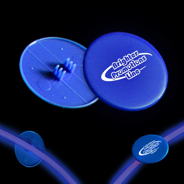 "Blue 1 1/2"" Clip On Medallion For Glow Necklaces And Bracelets Photo"