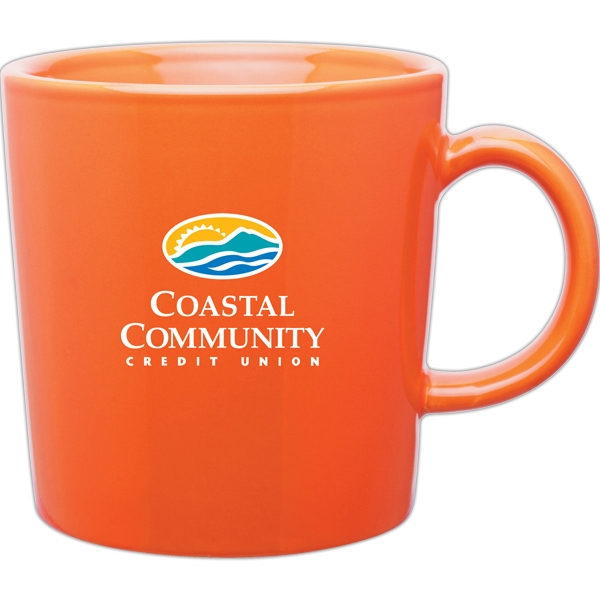 Enzo - Orange - Glossy 14 Oz. Ceramic Mug With C Handle Photo