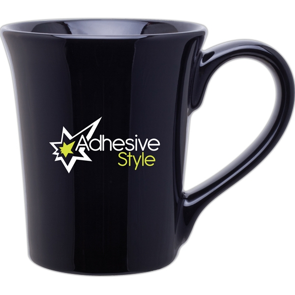 Allegra - Black - Glossy Ceramic Mug, 14 Oz Photo